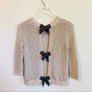 RACHEL Rachel Roy bow back sweater, XS
